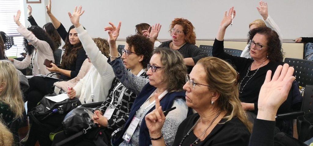קהל בהרצאה אינטליגנציה רגשית במכירות